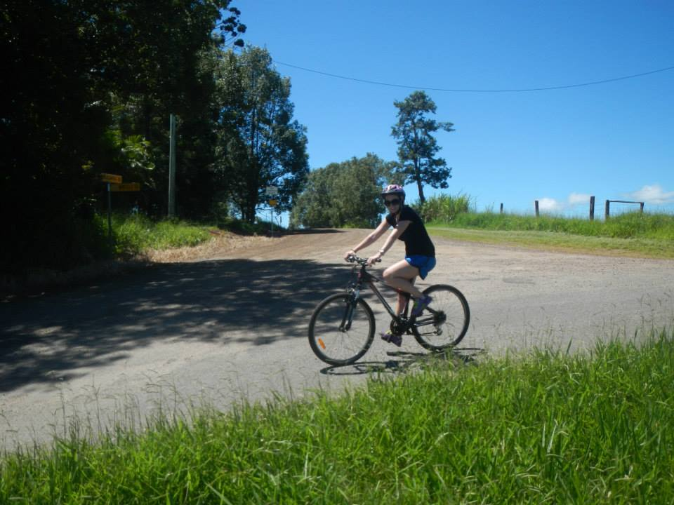 Shannon Bicycling in Daintree National Forest in Australia