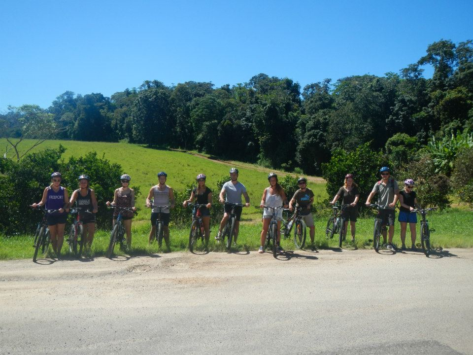 On the Wallaby Bicycling Tour in Daintree National Forest in Australia