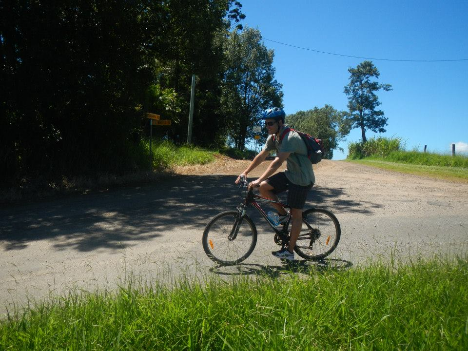 Stephen Bicycling in Daintree National Forest in Australia