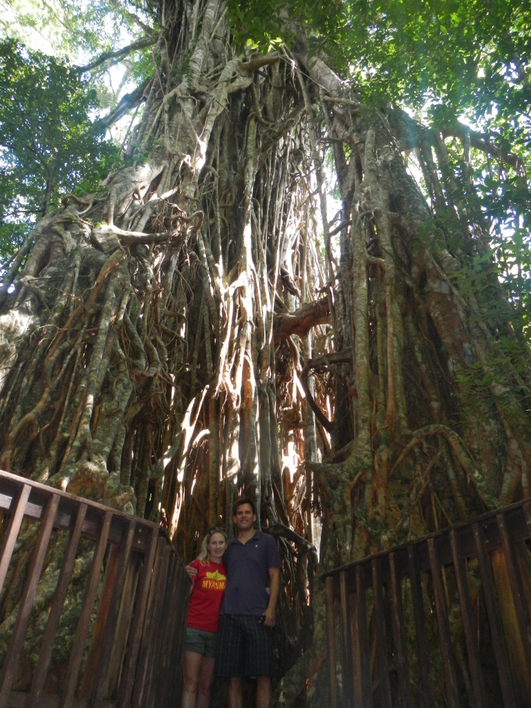 Shannon and Stephen in the Daintree National Rainforest in Queensland, Australia