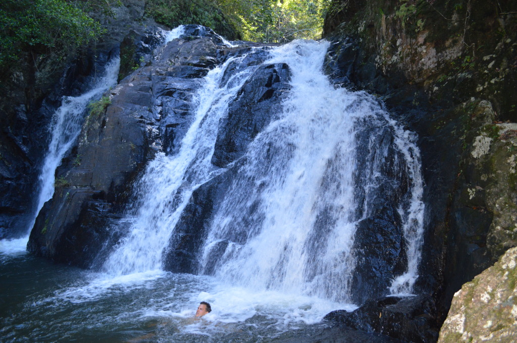 Stephen swimming in Daintree National Forest in Australia