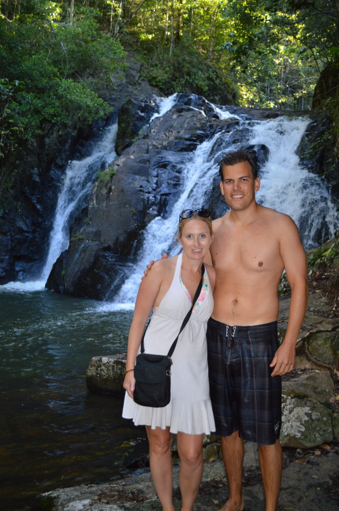 Shannon and Stephen in Daintree National Forest in Australia