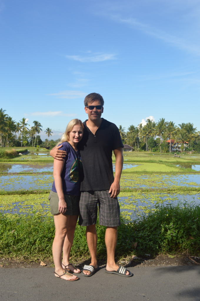 Shannon and Stephen at Payuk Bali Cooking School