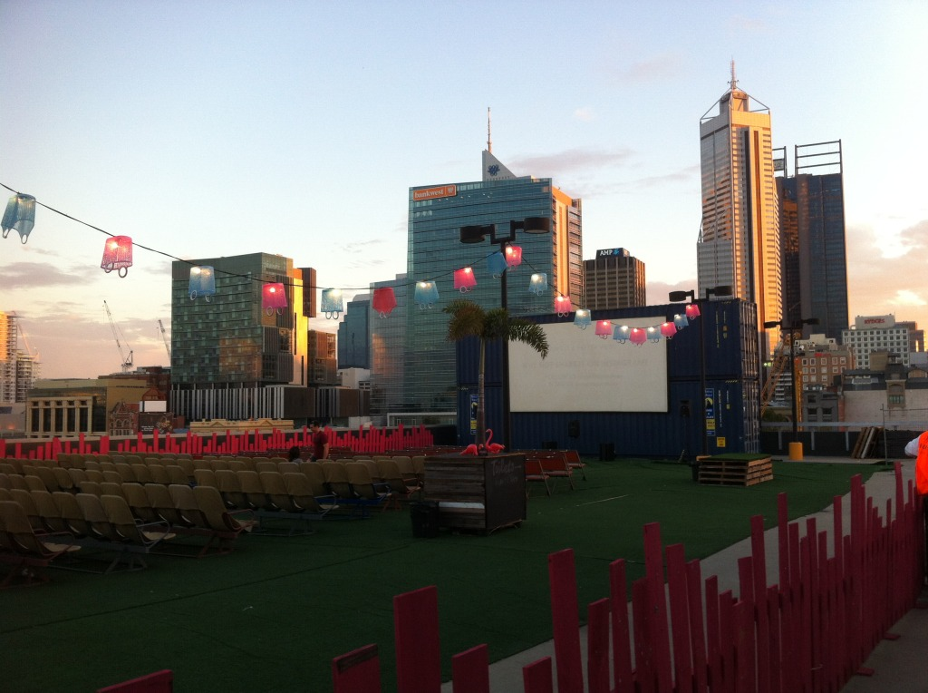 Rooftop Movie Theater in Perth, Australia