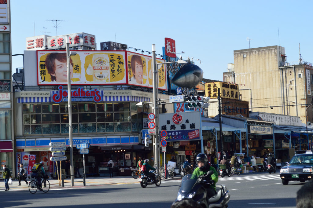 This is part of the outer area that is packed with restaurants and a food market